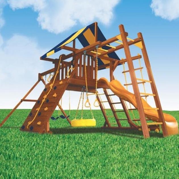 Детские площадки из дерева Американские игровые системы зарница и рукоход