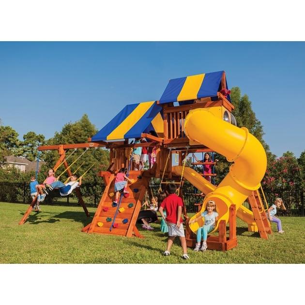Детские площадки из дерева Американские игровые системы техасец 5,5