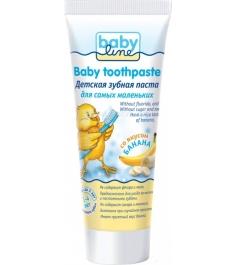 Детская зубная паста Babyline со вкусом Банана 75 мл...