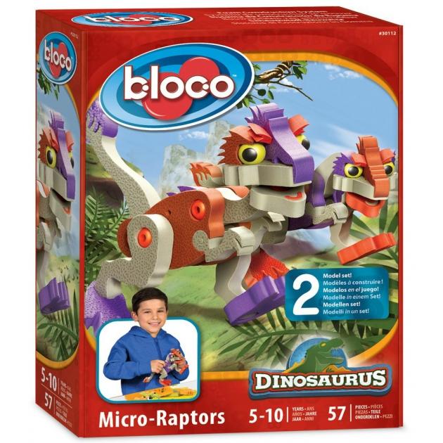 Конструктор Bloco Динозавр Микро Раптор 30112