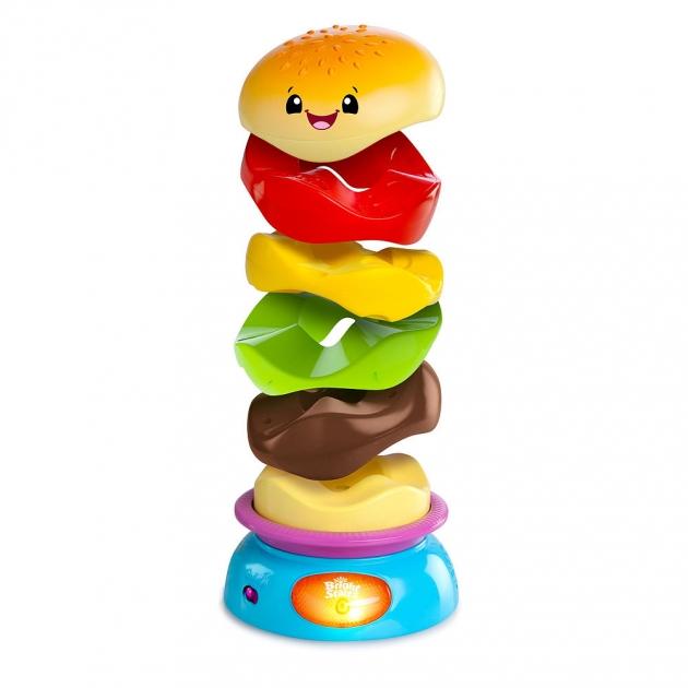 Развивающая игрушка Bright Starts -пирамидка Веселый бутерброд 52126