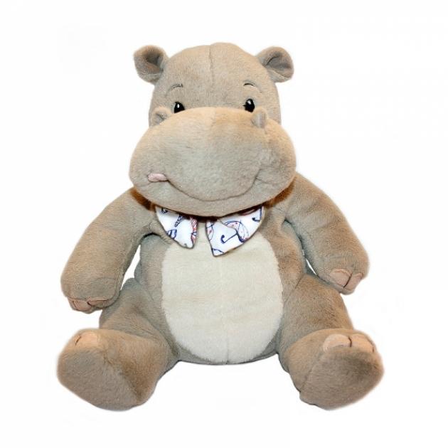 Мягкая игрушка бегемотик малышка с бантиком 19 см 42 110049