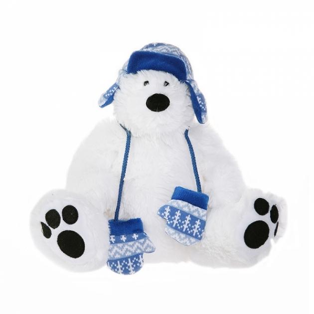 Мягкая игрушка мишка полярник в шапке 27 см 42 120374 1