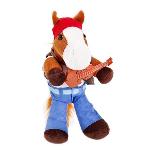Мягкая игрушка конь гитарист 40 12 0155