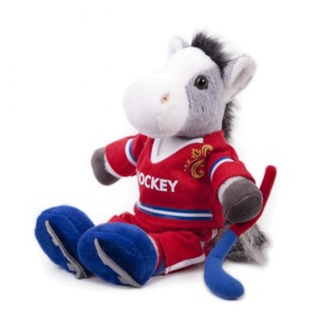 Мягкая игрушка конь хоккеист 40 12 0159