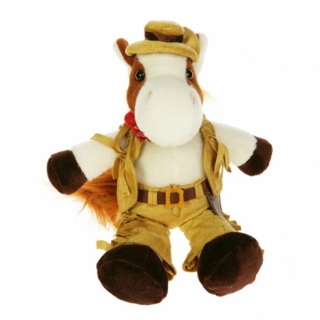 Мягкая игрушка конь ковбой 40 12 0156