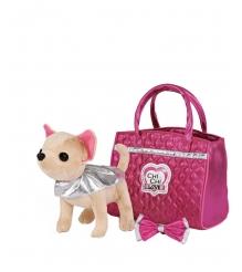 Плюшевая собачка Chi Chi Love Simba Чихуахуа Гламур с розовой сумочкой и бантом ...