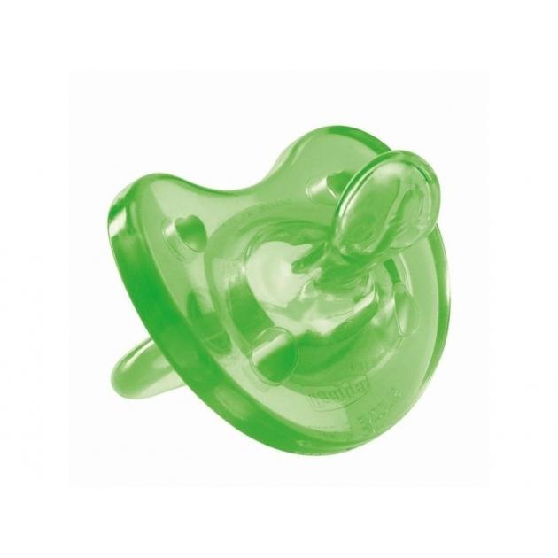 Пустышка силиконовая Chicco 12м+ зеленый