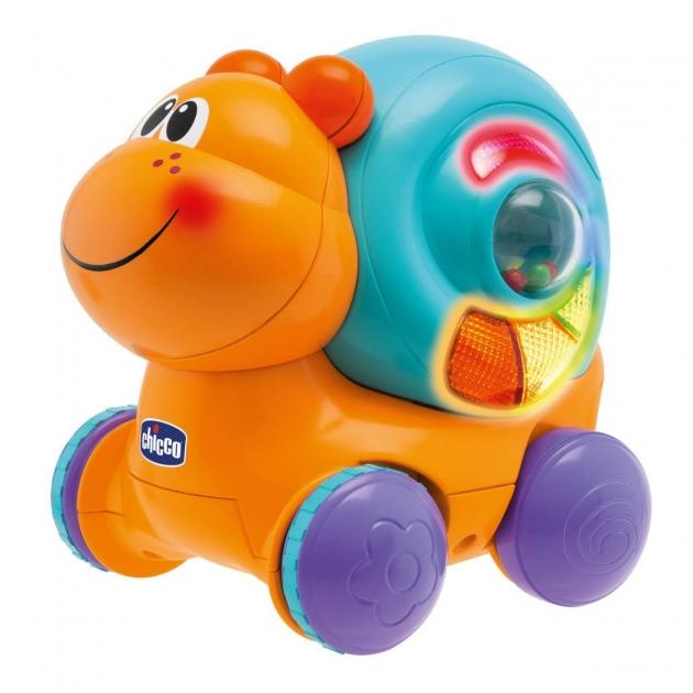 Развивающая игрушка Chicco Улитка на колёсиках Вперед ребята 69071