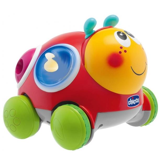 Развивающая игрушка Chicco Божья коровка на колёсиках Вперед ребята 69072