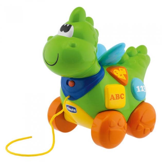 Интерактивная игрушка Говорящий Дракон на колесиках Chicco 69033