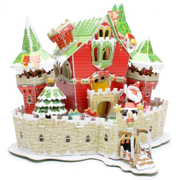3D пазл Cubic Fun Сказочный рождественский замок P646h с подсветкой