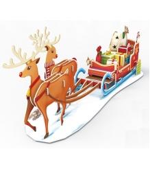 3D пазл Cubic Fun Рождественские сани P681h с подсветкой...