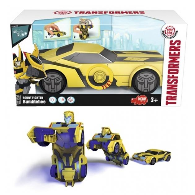 Трансформеры Dickie Машинка трансформер Bumblebee со светом и звуком 3113000