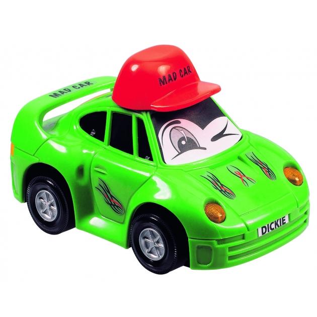 Детская веселая машинка Dickie 12 см зелёная 3313007