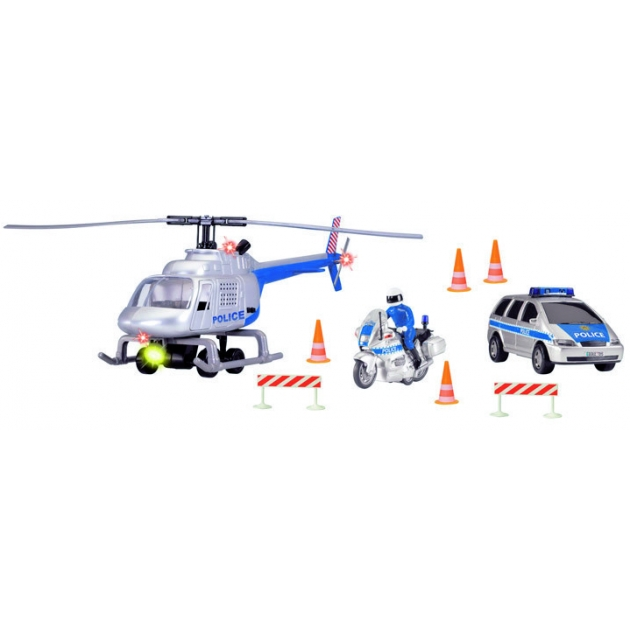 Спасательный набор Dickie Полиция с мигалками сиреной и аксессуарами 3313323