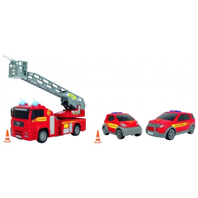 Спасательный набор Dickie Пожарная служба с водой мигалками сиреной и аксессуарами 3313323