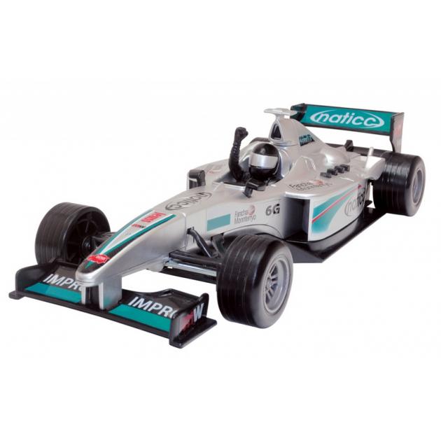 Детская гоночная машинка Dickie Formula Car серебристая 3313762
