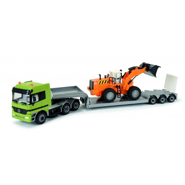 Набор строительной техники Dickie Экскаватор с 3 грузовиками фигурками рабочих и аксессуарами 3314557