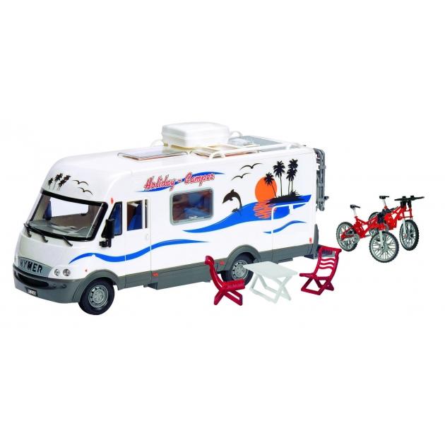 Трейлер Dickie Дом на колесах со столом и стульями и с велосипедами 3314847