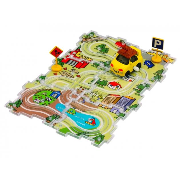 Машинка заводная Такси и трасса Dickie City Track Set 3315127