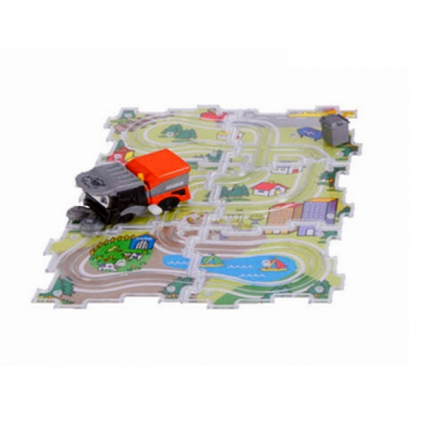 Машинка+трасса-паззл Dickie Уборочная машинка 3315156