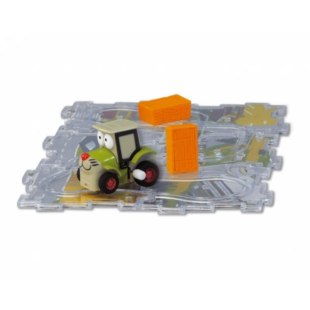 Машинка+трасса-паззл Dickie Трактор 3315156
