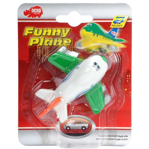 Веселый детский самолет Dickie инерционный белый с зеленым 3345475