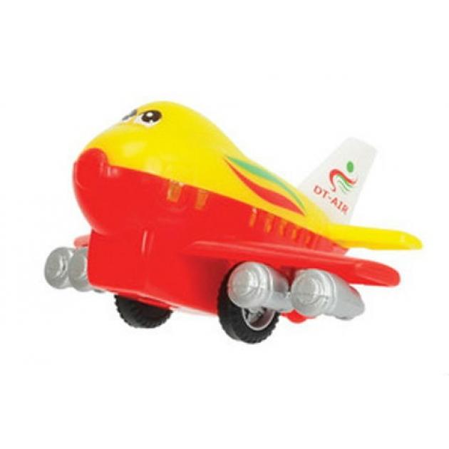 Веселый детский самолет Dickie инерционный красный с желтым 3345475