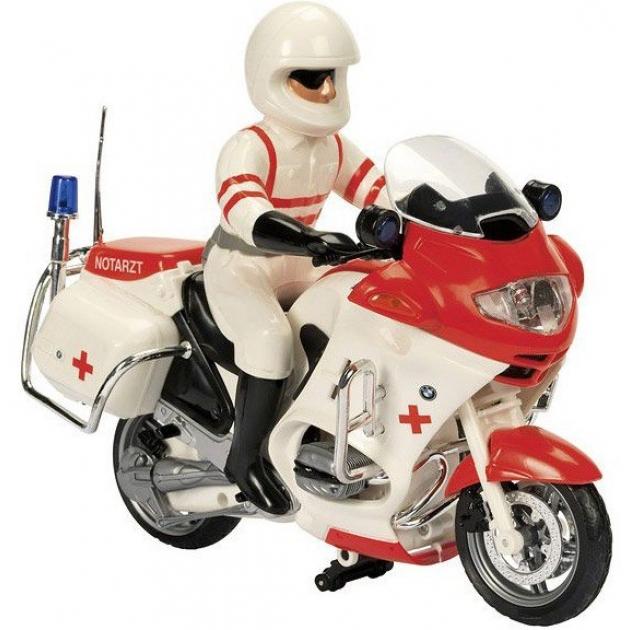 Мотоцикл игрушка Dickie фрикционный 20 см белый со светом и звуком 3383025