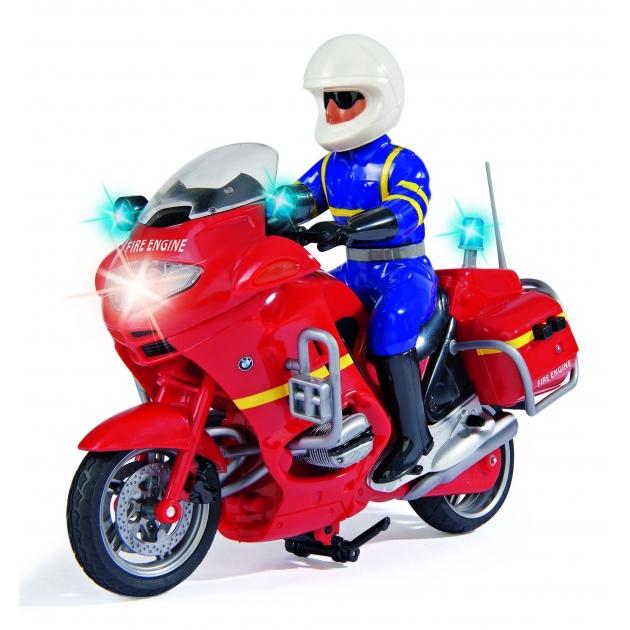 Мотоцикл игрушка Dickie фрикционный 20 см красный со светом и звуком 3383025