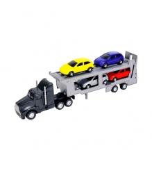 Трейлер Dickie черный с 4 машинками 3414759