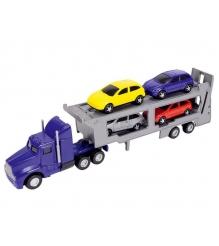 Трейлер Dickie синий с 4 машинками 3414759