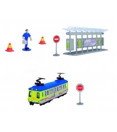 Игровой набор Трамвайная остановка Dickie желтый 3315390