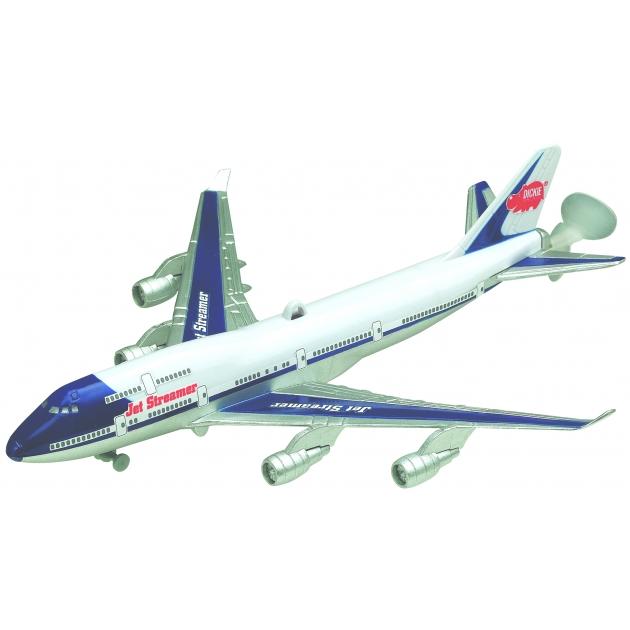 Самолет Dickie 25 см летающий реактивный на леске 3553811