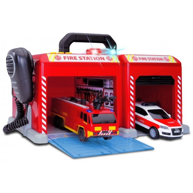 Пожарная станция Dickie с машинами рацией мигалками и звуками 3603128