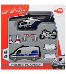 Игровой набор Dickie Полицейская техника 3713005
