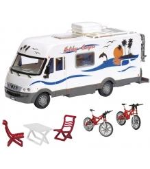 Детский игрушечный Трейлер для отдыха Dickie фрикционный 3827003
