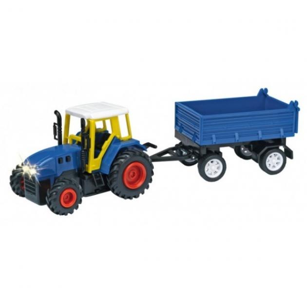 Трактор с прицепом с бидонами Dickie Синий 3473471