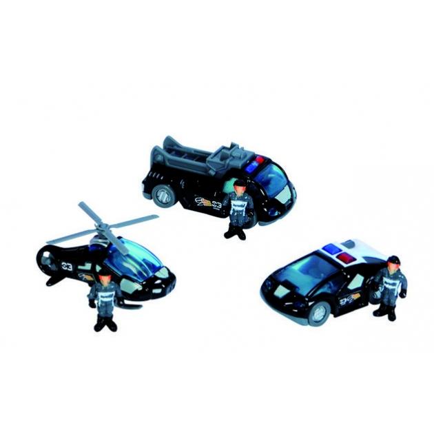 Спасательный набор Dickie черный вертолет 2 машинки и фигурки людей 3315405