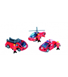 Dickie красный вертолет 2 машинки и фигурки людей 3315405...