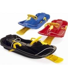 Детские санки с рулем и тормозом Dantoy 95 см.