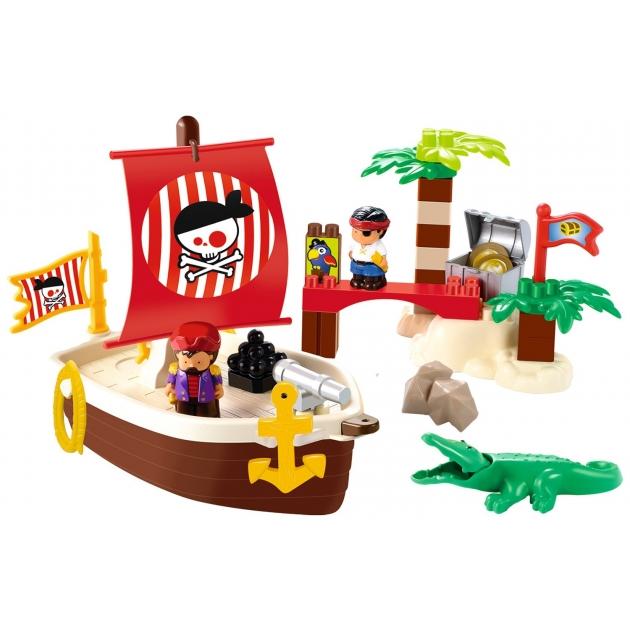 Конструктор Ecoiffier сокровища пиратов Abrick 3179