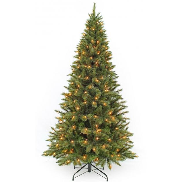 Искусственная ель Триумф Лесная Красавица стройная с огоньками Triumph Tree