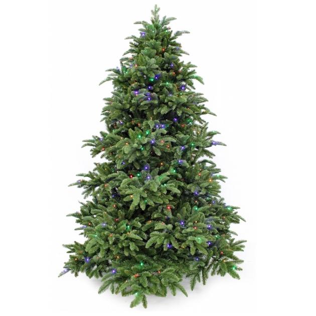 Искусственная ель Триумф Шервуд премиум с огоньками мультиколор Triumph Tree