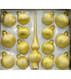 Набор украшений Peneri 14 шаров с верхушкой 28 см из стекла...