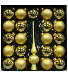 Набор украшений Peneri 21 шар с верхушкой 28 см из стекла