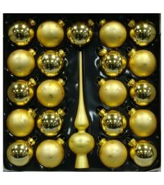 Набор украшений Peneri 21 шар с верхушкой 28 см из стекла...
