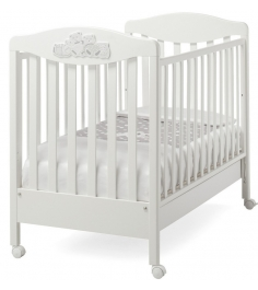 Кроватка на колесиках Erbesi Tippy белый