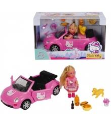 Кукла Evi Love на машине с собачкой и акссессуарами из серии Hello Kitty 5737843...